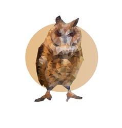 Polygonal owl vector