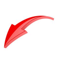 red 3d shiny arrow vector image