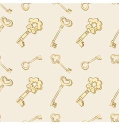Seamless keys pattern vector