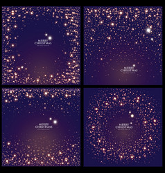 set of glitter backgrounds with glowing lights vector image