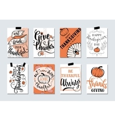 Set of thanksgiving holidays vector
