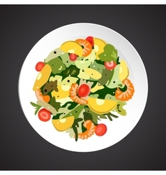 Shrimp salad vector
