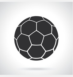 Silhouette leather soccer ball vector