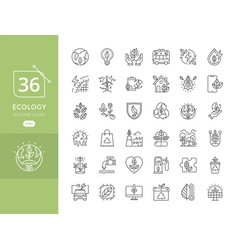 Simple set eco icons vector