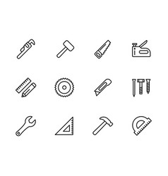 Simple set work tools joinery tools craft vector