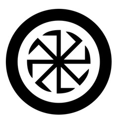 Slavic slavonis symbol kolovrat sign sun icon vector