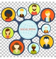 Social Media Design Flat Concept vector image