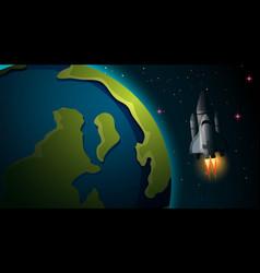 space ship earth scene vector image