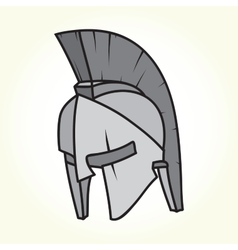 Sparta helmet isolated vector