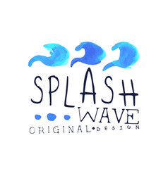 Splash wave logo water design element abstract vector