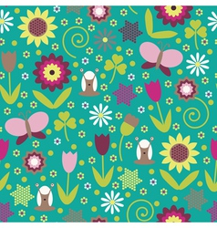Summer seamless background vector image