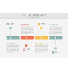 Timeline report template with buttons and icons vector image