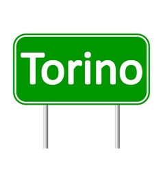 Torino road sign vector image