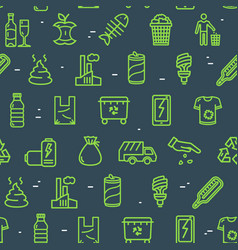 trash signs seamless pattern background vector image