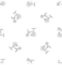 tricycle pattern seamless vector image
