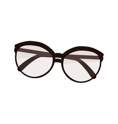 Vintage fashion glasses vector image