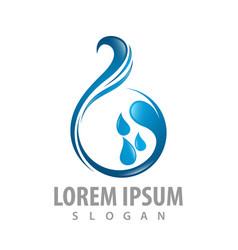 water drop wave logo concept design symbol vector image