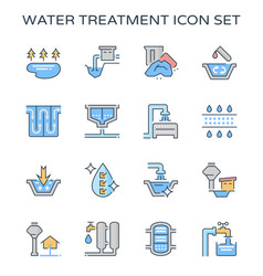 Water treatment icon vector