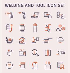 Welding work icon vector
