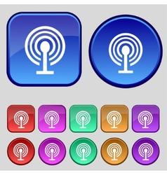 Wifi sign Wi-fi symbol Wireless Network icon zone vector image