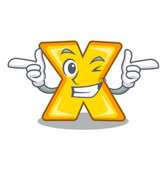Wink cartoon multiply of a delete sign vector