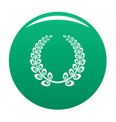 wreath icon green vector image