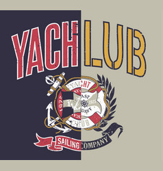 yacht club sailing company collage vector image