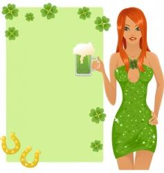cute leprechaun girl vector image