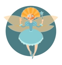 Fairy in blue dress vector image