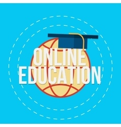 Flat for e-learning and online vector image vector image