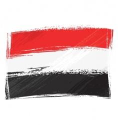 grunge Yemen flag vector image vector image