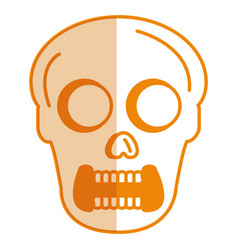Skull head avatar character vector