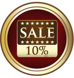 ten percent sale icon vector image vector image