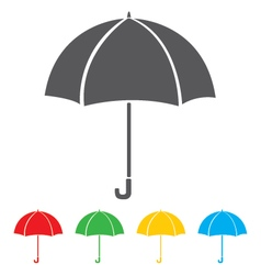 Umbrella icon isolated on white background vector image vector image