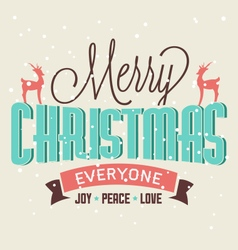 Christmas Greeting Card Design Element vector image