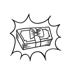 dollar Doodle vector image vector image