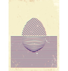 Egg poster 3D vector image vector image