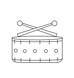 Line snare drum musical instrument to play music vector