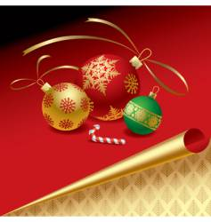 Christmas & New-Year's elements vector image vector image