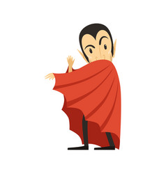 count dracula vampire looks out from under the vector image vector image