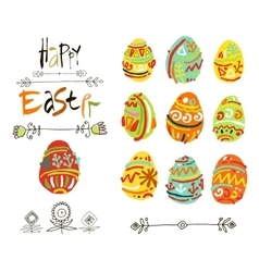 Happy Easter greeting card or display vector image