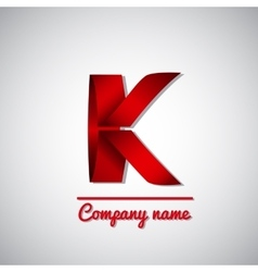 Icon of paper business logo letter k vector image
