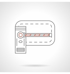 Road barrier flat line icon vector image