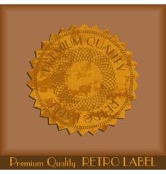 Vintage grunge labels vector image vector image