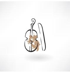 violin grunge icon vector image vector image