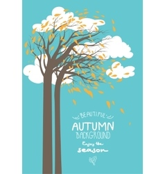 Autumn trees and leaves vector image