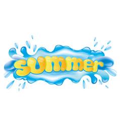 Blue splash of water vector
