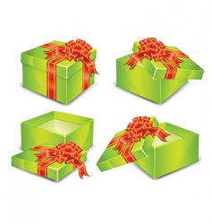 green boxes vector image
