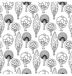 hand drawn seamless pattern with abstract doodle vector image vector image