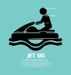 Jet Ski Sport Sign vector image